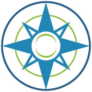 Happier Place Icon Logo Compass Smile