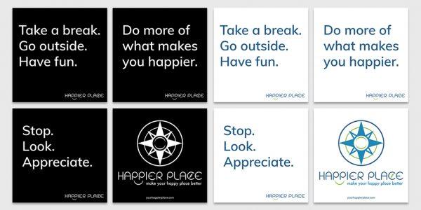 Get Happier Sticker Kit - Happier Place