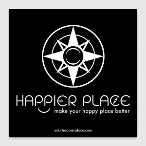 Happier Place Logo Sticker