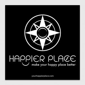 Happier Place Logo Sticker