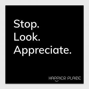 Gratitude Moment sticker - Happier Place
