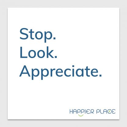 Gratitude Moment sticker - Happier Place