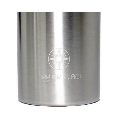 Etched Happier Place logo on 25oz double wall insulated stainless - H005-BOT