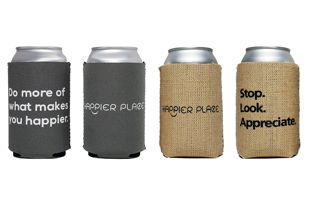 Happier Place Can Coolers koozie