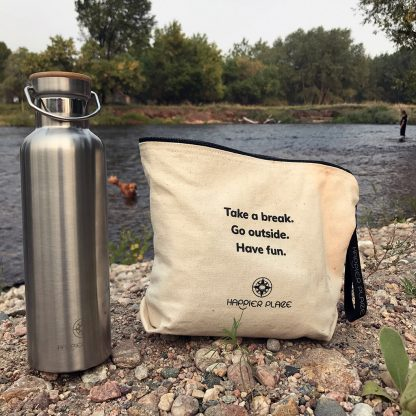 Take a Break Always-Ready Bag and Insulated Stainless Steel Bottle - Happier Place