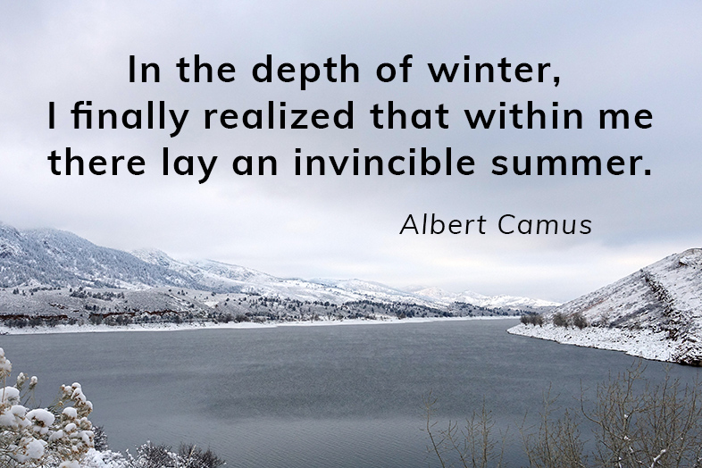 In the depth of winter, I finally realized that within me there lay an invincible summer - Albert Camus