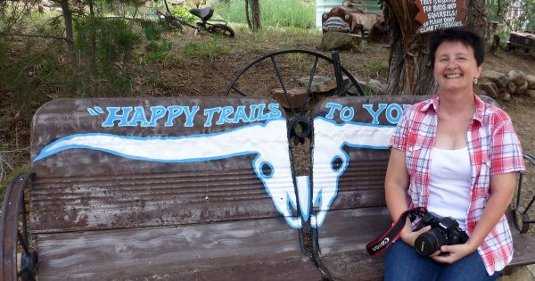 Geri Linda Metterle in Tinkertown, New Mexico - Happier Place