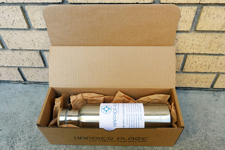 Stainless steel bottle happier packaging - Happier Place