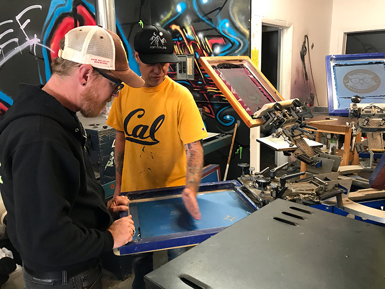Screenprinting at Wounded Heart Press - Fort Collins, Colorado - Happier Place