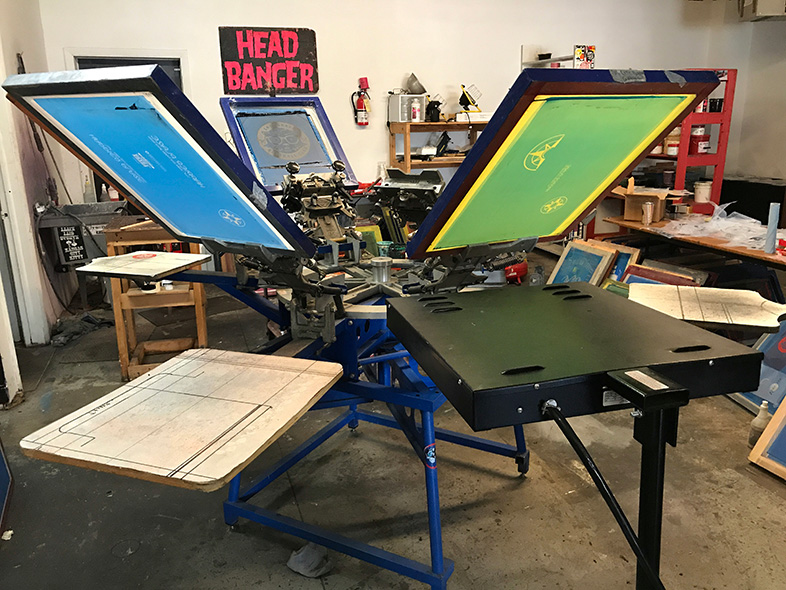 Wounded Heart Press printing screens