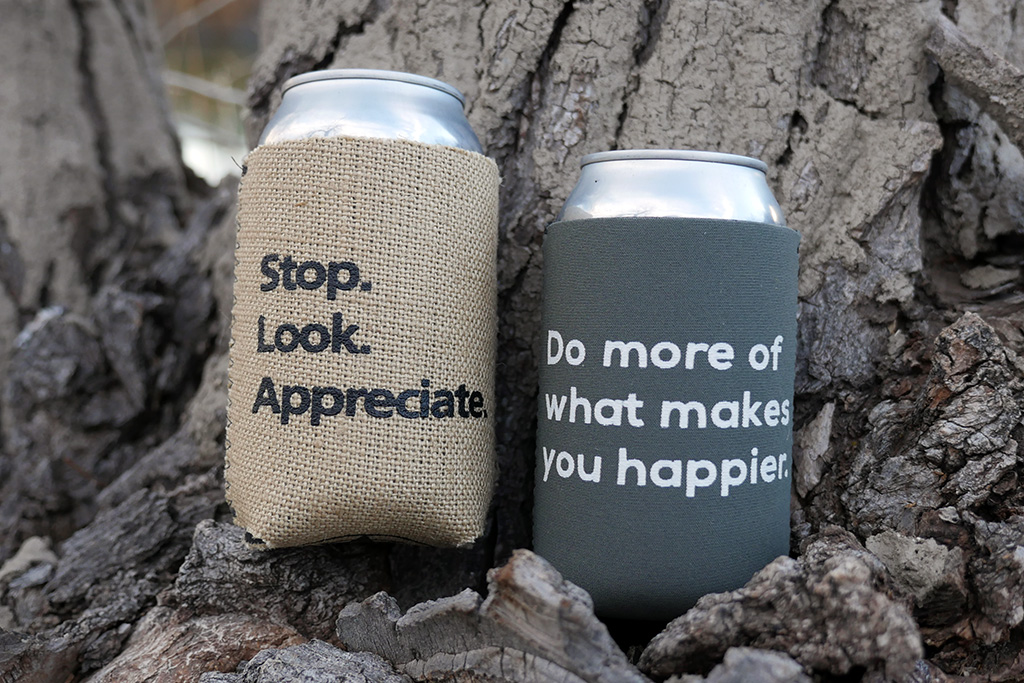 Happier Place Can Cooler Koozie