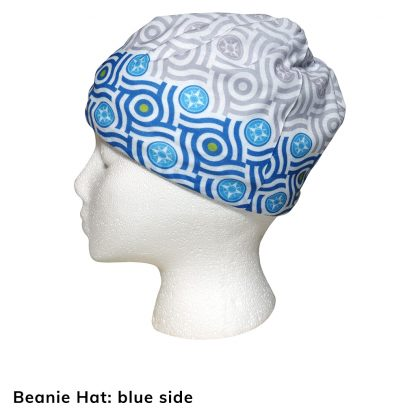 Happier Bandana - blue and grey - Beanie Hat - Happier Place