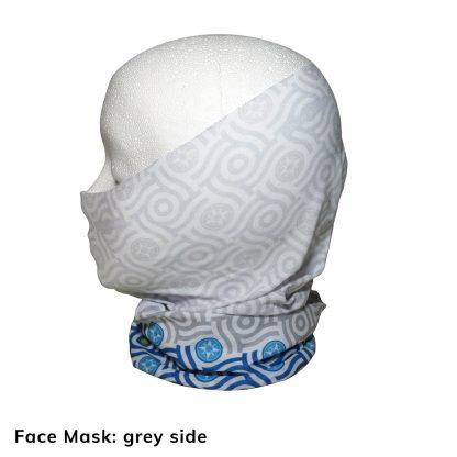 Happier Bandana - blue and grey - Face Mask - Happier Place