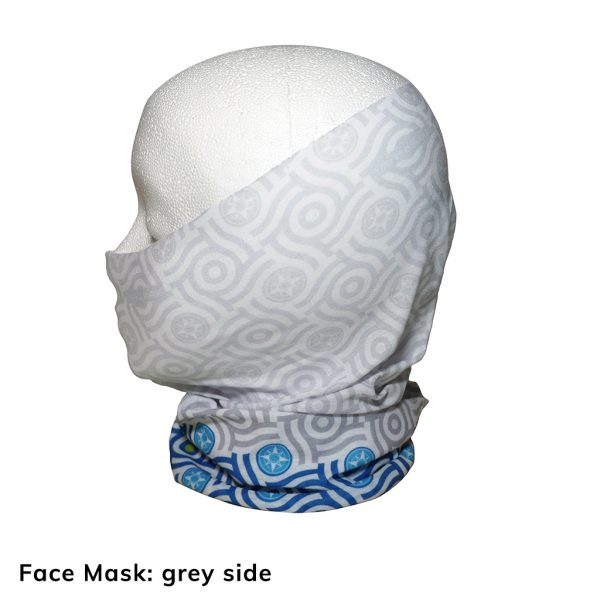 Happier Bandana - blue and grey - Face Mask - Happier Place