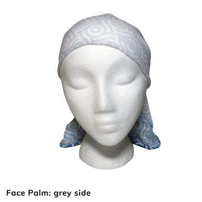 Happier Bandana - blue and grey - Face Palm - Happier Place