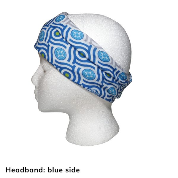Happier Bandana - blue and grey - Headband - Happier Place