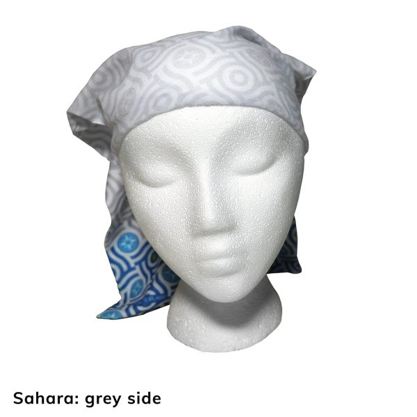 Happier Bandana - blue and grey - Sahara - Happier Place