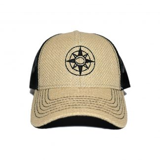 Happier Place Burlap Trucker Hat - H008-HAT-LG-BUR