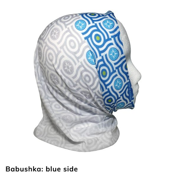 Happier Bandana - blue and grey - Babushka - Happier Place