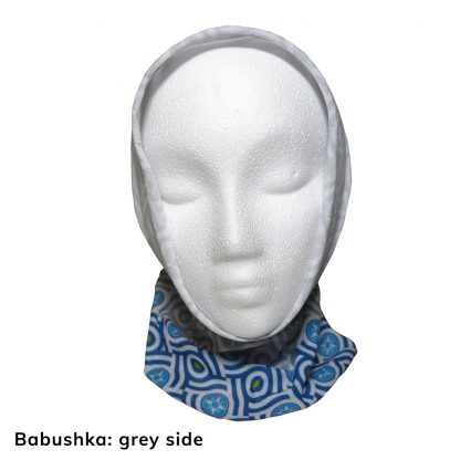 Happier Bandana - blue and grey - Babushka - Happier Place