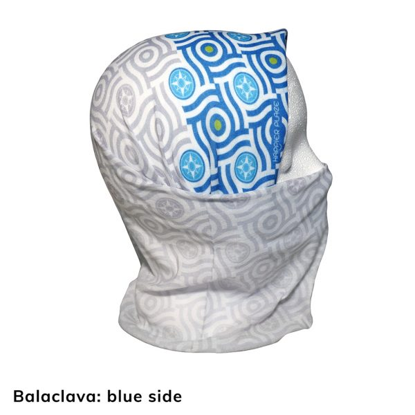 Happier Bandana - blue and grey - Balaclava - Happier Place