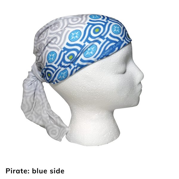 Happier Bandana - blue and grey - pirate style - Happier Place
