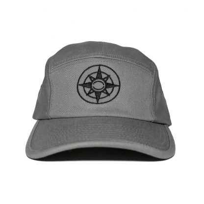 Happier Place Camper Hat - grey with black logo - H007-HAT-LG-GY