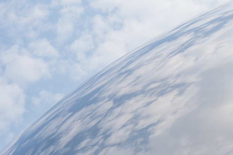 Cloud Gate With Clouds, Chicago - Photo by Lauri Novak - Happier Place