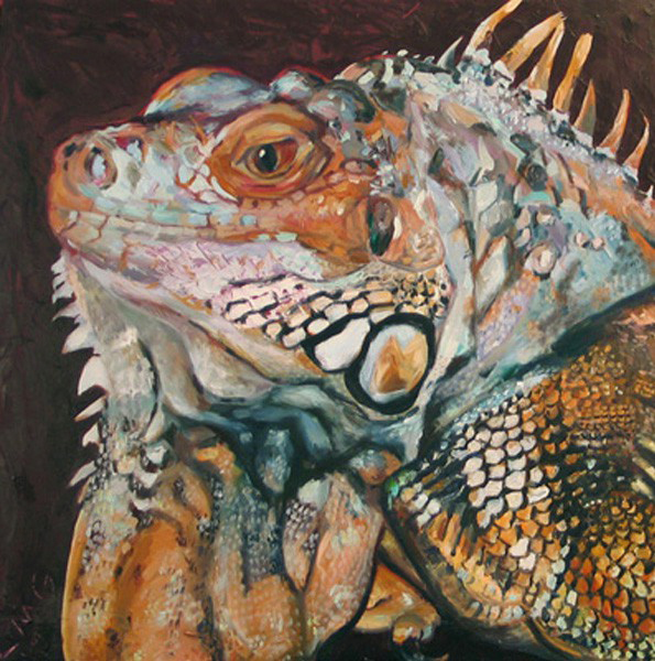 Zard, The Lizard - Painting by Lisa Goldfarb.