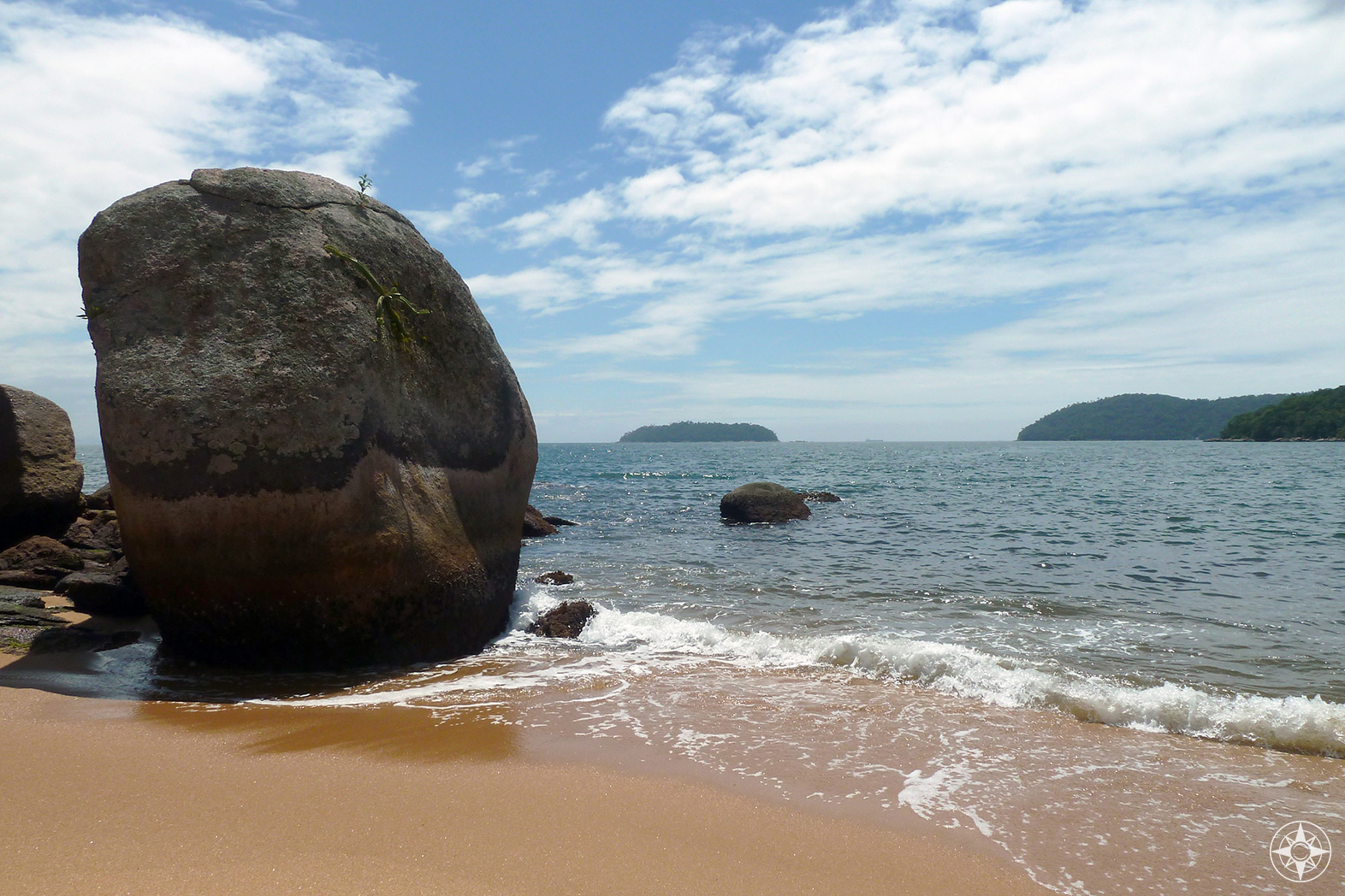 Praia Palmas, one of a hundred beaches on Ilha Grande, Brazil.