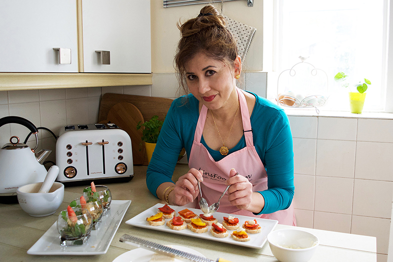 Azlin Bloor of LinsFood in her Happier Place: creating beautiful and delicious food in her kitchen.