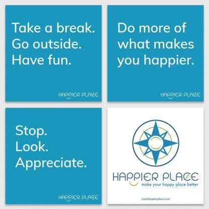 Blue HappierPlace Get-Happier Sticker Kit