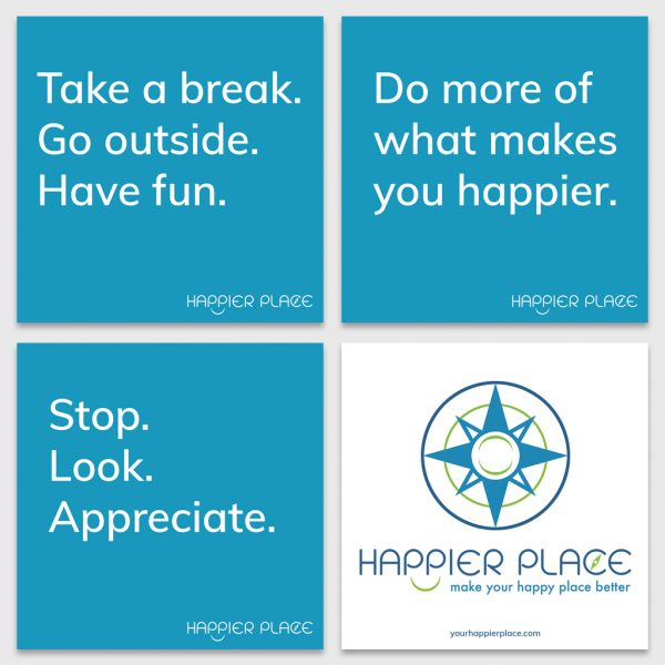 Blue HappierPlace Get-Happier Sticker Kit