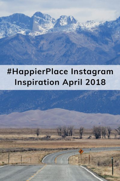 Driving towards the Great Sand Dunes in Colorado - #HappierPlace Instagram Inspiration April 2018
