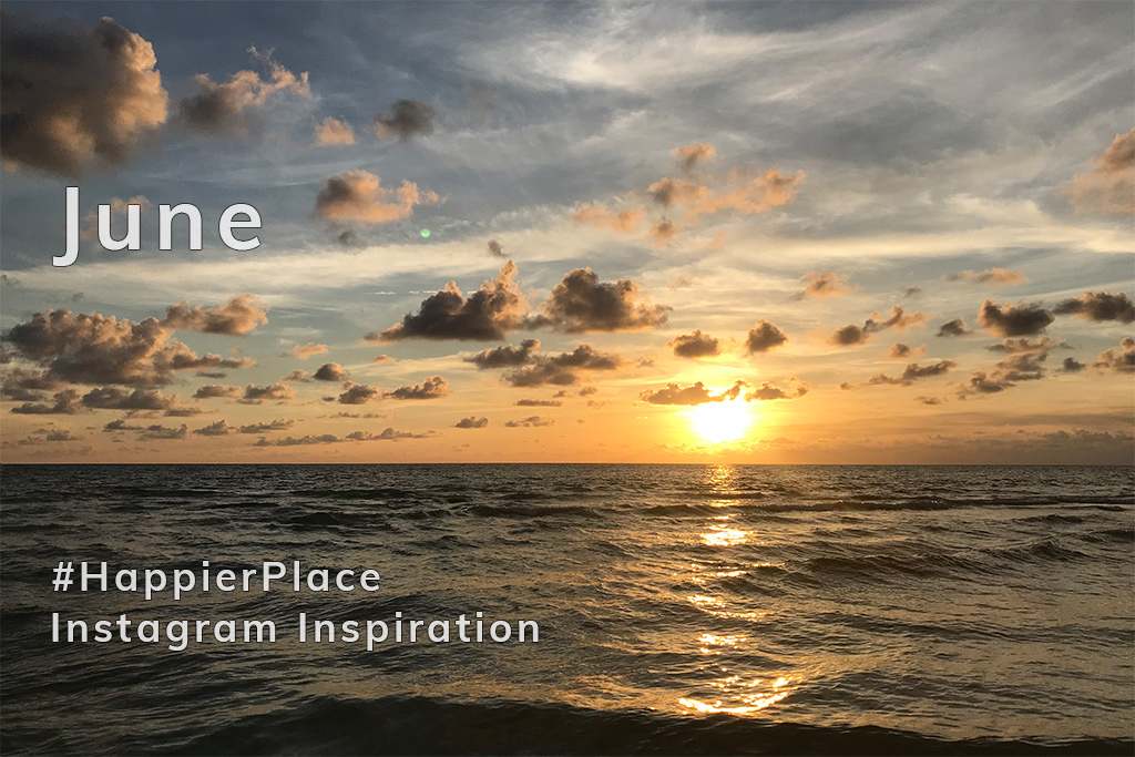 #HappierPlace Instagram Inspiration from June 2018 - Florida sunset by LuciWest