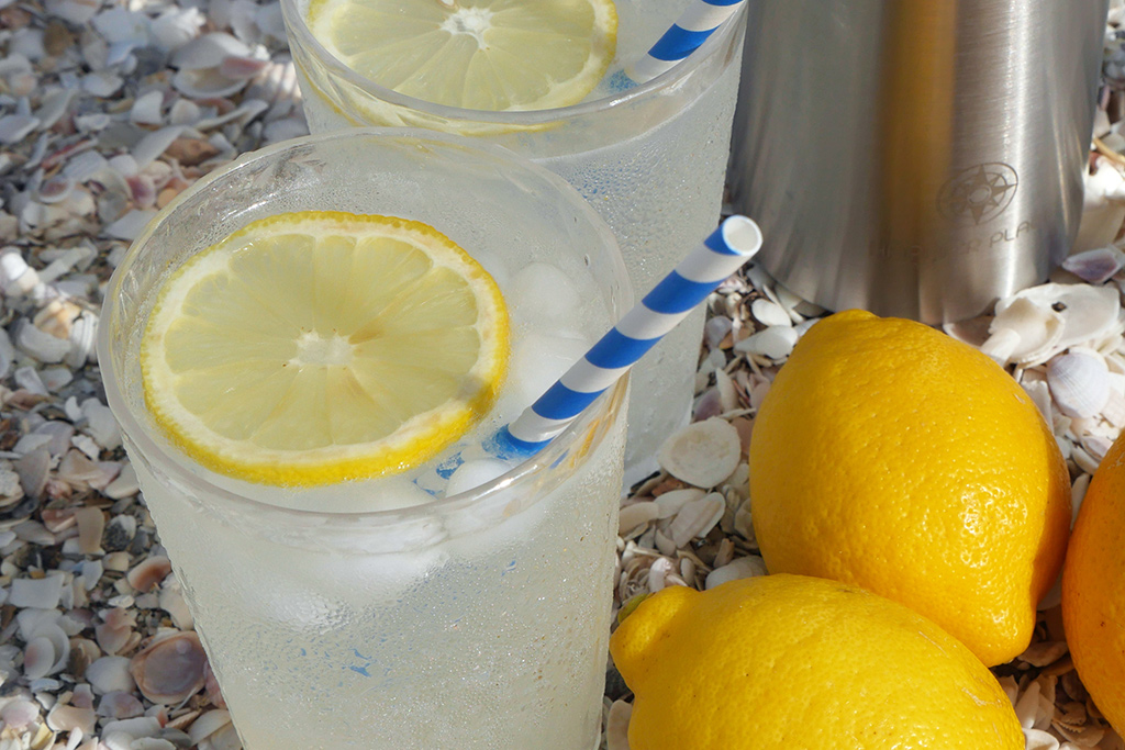 When life gives you lemons, make Vodka Collins recipe - Happier Place on the beach