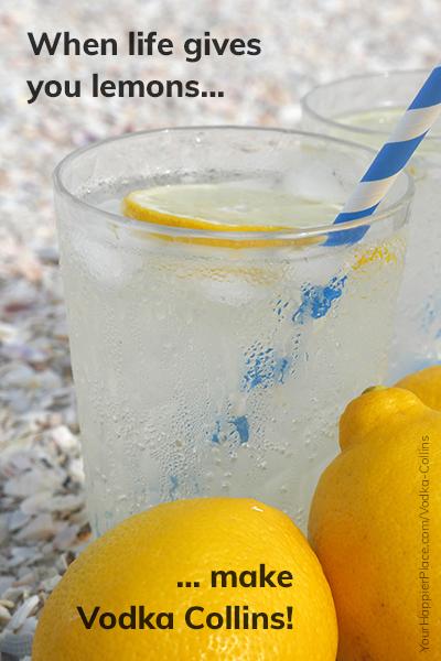 When life gives you lemons, make Vodka Collins - Happier Place