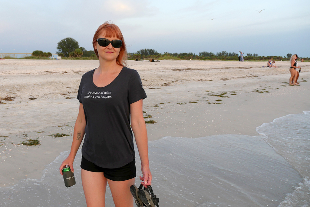 First Happier Shirt on Sand Key Island, Florida - Happier Place