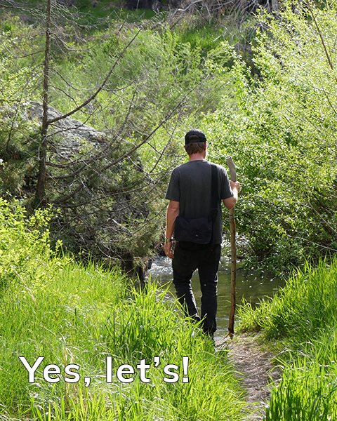 """In this case """"Yes, Let's!"""" led to exploring Hewlett Gulch Trail off Poudre Canyon in Colorado."""