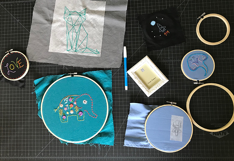 In the middle of creation: The Stitchy Crow studio