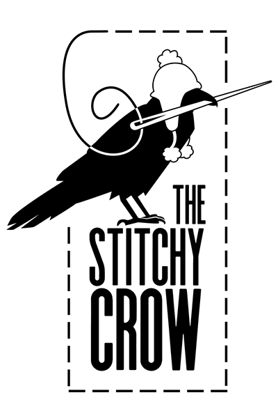 The Stitchy Crow - Fiber art by Katherine Guttman