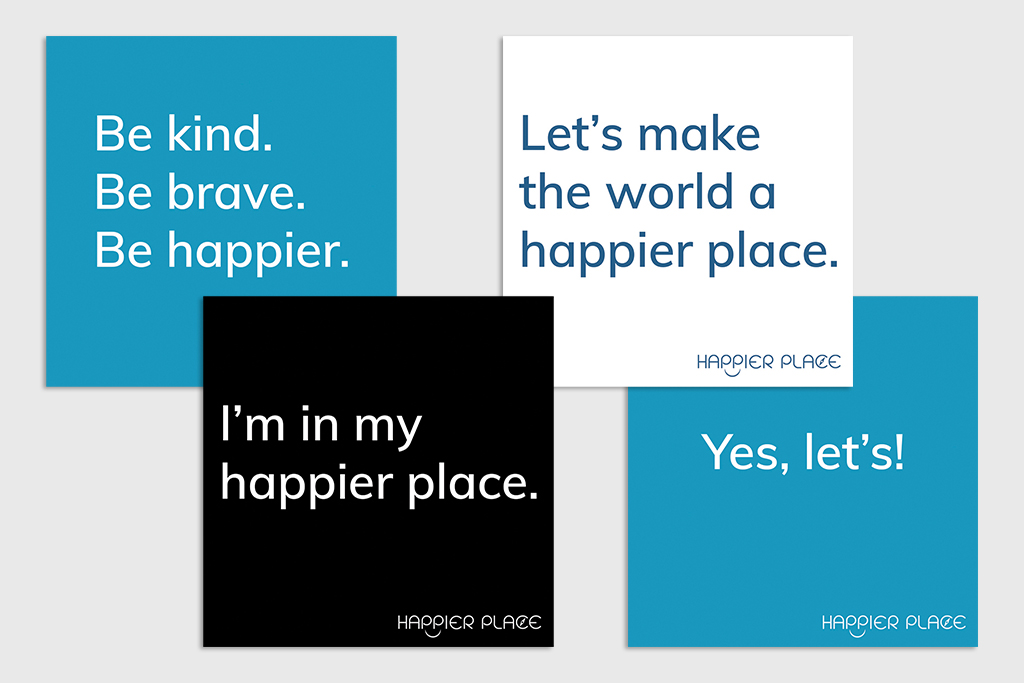 Make-happier stickers + get-happier stickers from Happier Place.