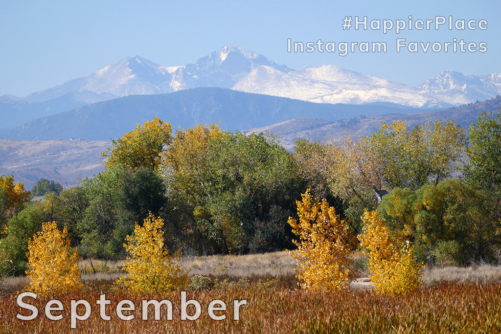 Longs Peak seen from Fort Collins, Colorado - HappierPlace Instagram Favorites September 2018