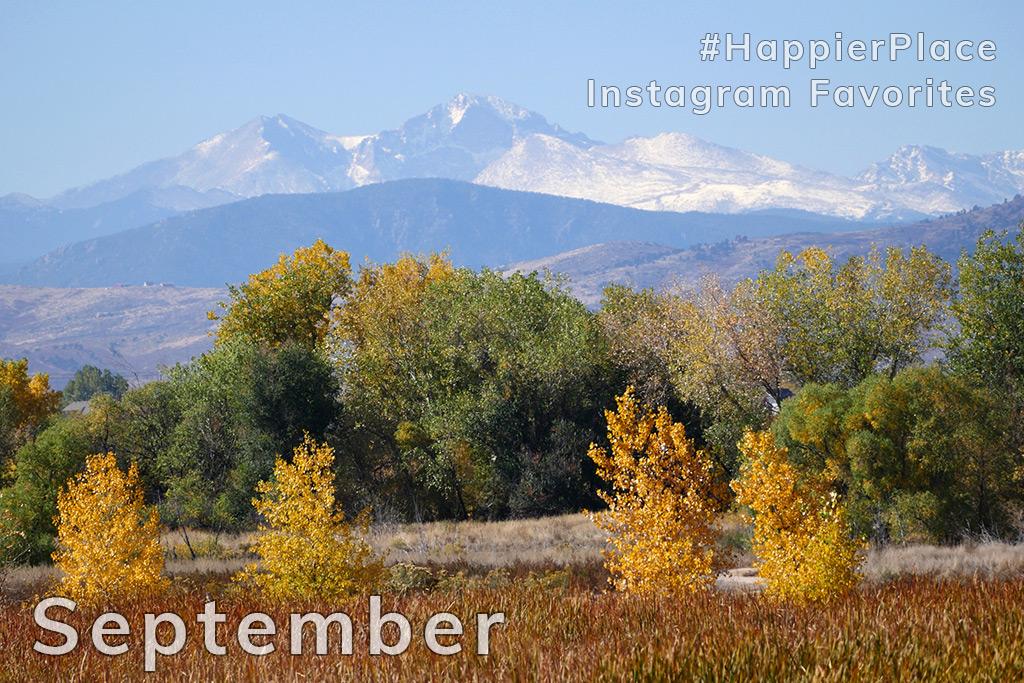 Longs Peak seen from Fort Collins, Colorado - HappierPlace Instagram Favorites September 2018