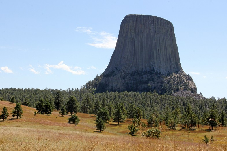 Devils Tower in Wyoming in fall