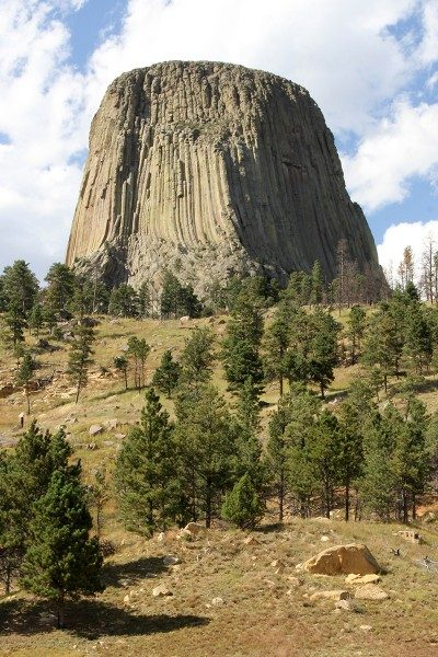 Prairie dog's perspective of Devils Tower from the south side.
