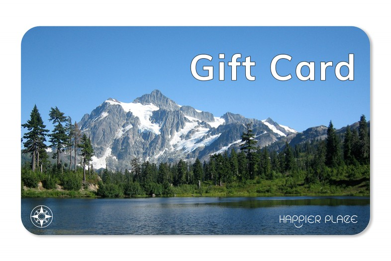 Happier Place eGift Card featuring Mount Shuksan