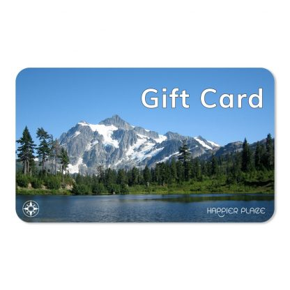 virtual Happier Place Gift Card shows Mount Shuksan