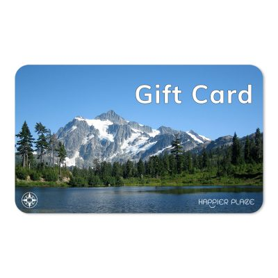 Happier Place Gift Card shows Mount Shuksan