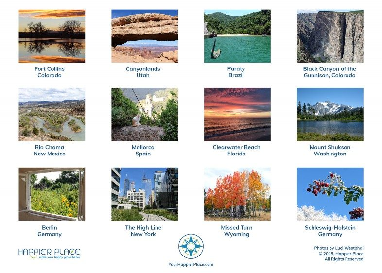 Happier Place 2019 calendar: 12 months of nature from around the world
